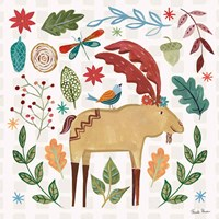 Whimsical Woodland IV Fine Art Print
