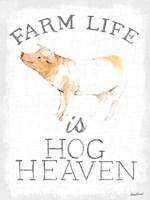 Farm Life enamel Fine Art Print