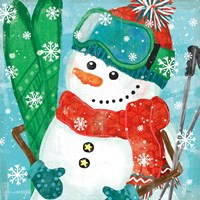 Snowy Fun V Fine Art Print
