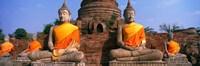 Buddha Statues Near Bangkok Thailand Fine Art Print