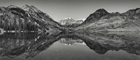 Reflection Of Mountains In A Lake, Maroon Bells, Aspen, Colorado Fine Art Print