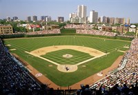 High Angle View Of A Stadium, Wrigley Field, Chicago, Illinois Fine Art Print