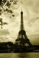 Tower At The Riverside, Eiffel Tower, Paris, France Fine Art Print