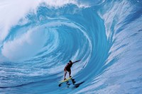 Man Surfing In The Sea Fine Art Print