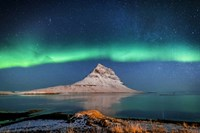 Aurora Borealis Or Northern Lights With The Milky Way Galaxy, Iceland Fine Art Print