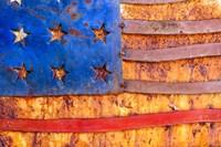 Painted US Flag Fine Art Print