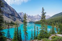 Scenic Mountainous Landscape Of Banff National Park, Alberta, Canada Fine Art Print