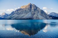 Mountain Reflecting In Lake At Banff National Park, Alberta, Canada Fine Art Print