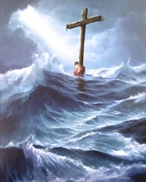 Clinging To The Cross Fine Art Print