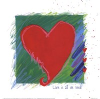 Love - heart Fine Art Print