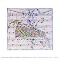 "Sweet Music I by Mariapia & Marinella Angelini - 9"" x 9"""
