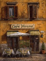Cafe Verona Fine Art Print