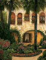 Patio Gerona Fine Art Print