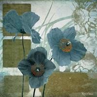 Cerulean Poppies I Fine Art Print