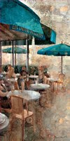 Terraza Cafe Les Deux Magots Fine Art Print