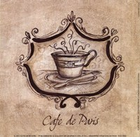 """Cafe De Paris by Kate McRostie - 6"""" x 6"""""""