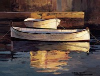 Barcas al Atardecer Fine Art Print