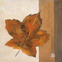 Leaf Impression - Rust Fine Art Print