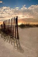 Dune Fence At Sunrise Fine Art Print