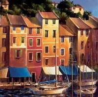 Portofino Waterfront Fine Art Print
