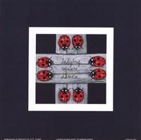 Ladybug Square Dance Fine Art Print
