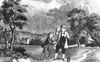 June 1752 Benjamin Franklin Out Flying His Kite In Thunderstorm As An Experiment In Electricity And Lightning Fine Art Print