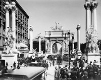 Triumphal Plaster Arch Columns Celebrate Commodore Dewey Manila Victory Spanish American War Madison Square Park NY Fine Art Print