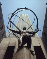Atlas Statue Rockefeller Center, NYC Fine Art Print