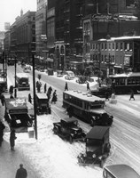 Snowy Philadelphia City Street In Winter Fine Art Print