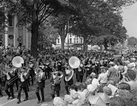 Fourth Of July Main Street Parade With Marching Band Fine Art Print