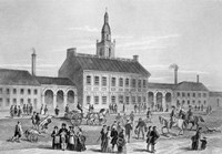 Engraving Of Independence Hall In Philadelphia 1776 Fine Art Print