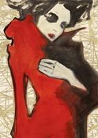 Feminine Red (detail) Fine Art Print