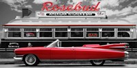 Vintage Beauty and Diner (Red) Fine Art Print