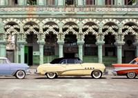 Cars parked in Havana, Cuba Fine Art Print