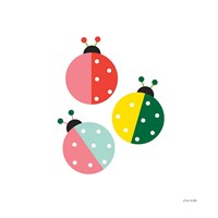 Ladybugs Three Fine Art Print