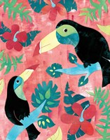 Jungle Jive I Dark Fine Art Print