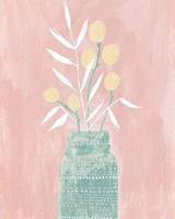 Seed and Bottle Pastel Crop Fine Art Print