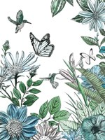 Butterflies and Flowers IV Fine Art Print