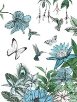 Butterflies and Flowers III Fine Art Print