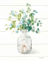 Beach Flowers IV Vase Fine Art Print