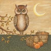 Halloween Owl Fine Art Print