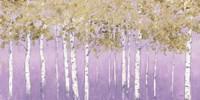 Shimmering Forest Lavender Crop Fine Art Print