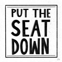 Put the Seat Down Fine Art Print