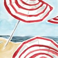 Stripes on the Beach II Fine Art Print