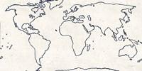 Sketch Map Navy Fine Art Print