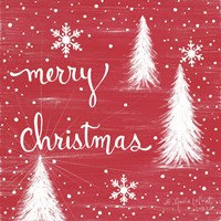 Merry Christmas Trees Fine Art Print
