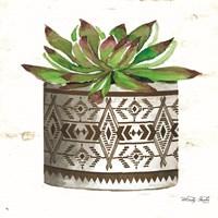 Mud Cloth Vase VI Framed Print