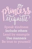Princess Etiquette Fine Art Print