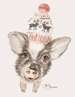 Cozy Pig Fine Art Print