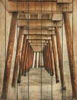 Vintage Under Dock Framed Print